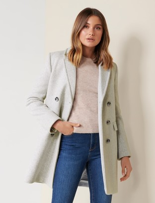 Forever New Alexa Coat - Grey Marle - 10