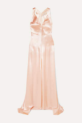 Philosophy di Lorenzo Serafini Hammered-satin Maxi Dress - Peach