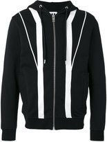 Les Hommes contrast zip up hoodie - men - Cotton - M