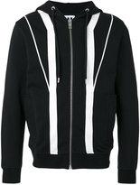 Les Hommes contrast zip up hoodie - men - Cotton - S