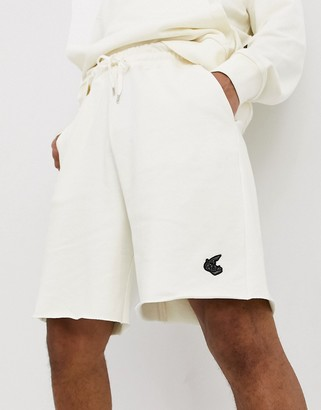 Vivienne Westwood Anglomania / Lee jersey shorts with logo in off white