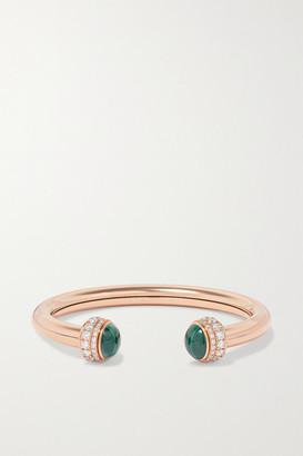 Piaget Possession 18-karat Rose Gold, Diamond And Malachite Cuff
