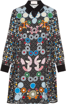 Peter Pilotto Ace geometric-print crepe dress