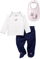 Little Me Princess Dot Lap Shoulder Set (Baby Girls)