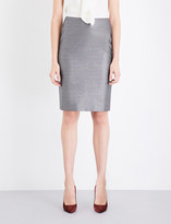 Max Mara Leale wool and silk-blend pencil skirt