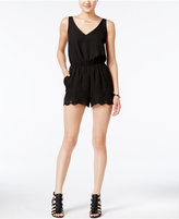 Bar III Crochet-Detail Romper, Created for Macy's