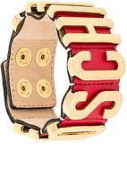 Moschino logo cuff