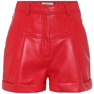 Philosophy di Lorenzo Serafini High-rise faux-leather shorts