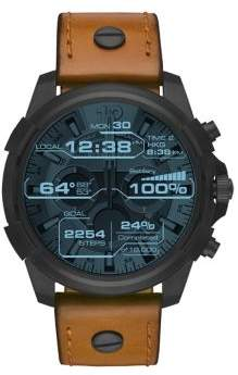 Diesel Black IP and LeatherTouchscreen Smartwatch