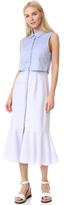 Jonathan Simkhai Cutout Strap Oxford Dress