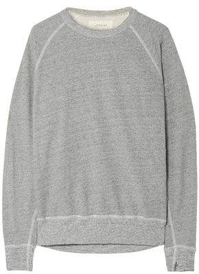 The Great The College Distressed Cotton-blend Jersey Sweatshirt