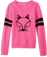 Girls 7-16 & Plus Size SO® Graphic Varsity Sweater