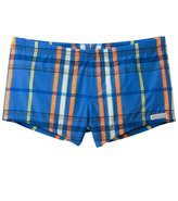 Sauvage Men's Como Italia Plaids Square Cut Swim Short 8114289