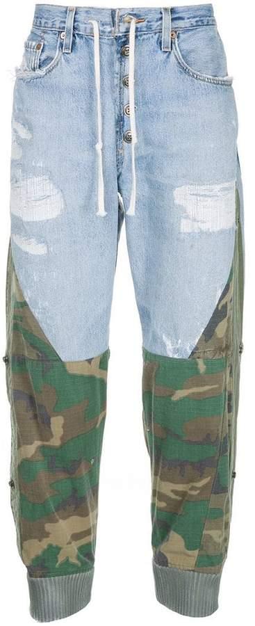 Greg Lauren camouflage jogger jeans