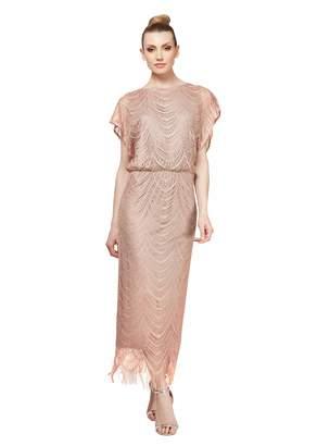 SL Fashions Women's Long Blouson Column Dress