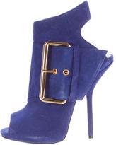 Giuseppe Zanotti Suede Peep-Toe Ankle Boots