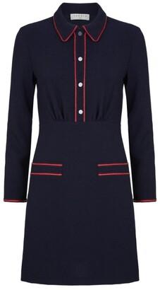 Sandro Paris Contrast Stitching Textured Dress