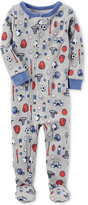 Carter's 1-Pc. Sports-Print Cotton Footed Pajamas, Baby Boys (0-24 months)