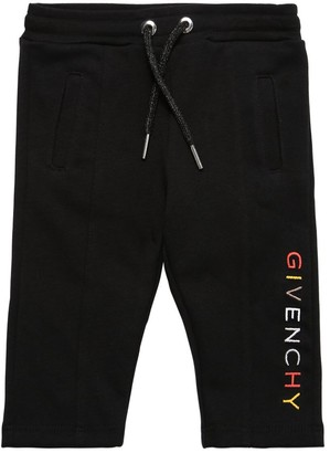 Givenchy Logo Embroidered Cotton Sweatpants