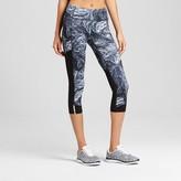 Champion Women's Run Capri - Dark Gray/Tonal Feather Swirl Print