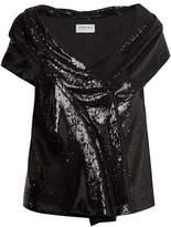 Osman Sigourni sequin-embellished top