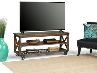 Gracie Oaks Mikkelsen Solid Wood TV Stand for TVs up to 60 inches Gracie Oaks