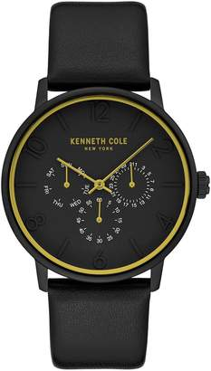Kenneth Cole New York Men's Dress Sport Analog Quartz Leather Strap Watch, 42mm