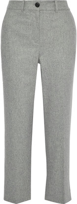 Rag & Bone Libby Melange Wool-blend Straight-leg Pants