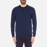 Paul Smith Men's Crew Neck Collar Detail Knitted Jumper Black