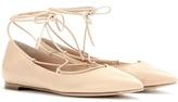 Gianvito Rossi Leather Ballerinas