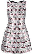 Alice + Olivia Alice+Olivia lipstick print dress