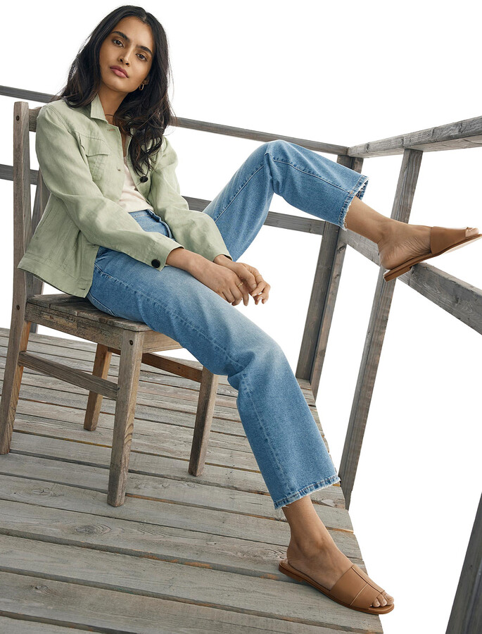 Thumbnail for your product : DL1961 Faded Patti straight cropped jean