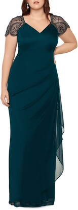Xscape Evenings Embellished Mesh Sheath Evening Gown