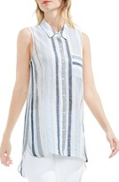 Women's Two By Vince Camuto Stripe High/low Tunic Shirt