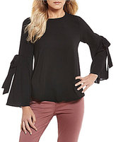 Moa Moa Tie Bell Sleeve Top