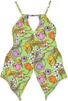 Balenciaga Flower Print Cropped Top