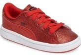 Puma Basket Holiday Glitz Sneaker (Baby, Walker & Toddler)