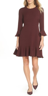 Brinker & Eliza Bell Sleeve Fit & Flare Dress (Regular & Petite)
