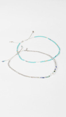 Chan Luu Turquoise Mix Anklet Set