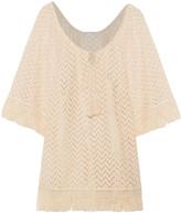 Eberjey Libertine Giana fringed crochet-knit coverup