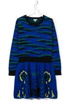 Kenzo 'Tiger' dress - kids - Cotton/Wool - 16 yrs