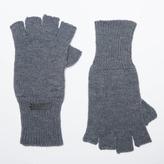 DSTLD Cashmere Blend Fingerless Gloves in Black
