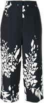 Rochas floral print cropped trousers - women - Spandex/Elastane/Cupro/Viscose - 40