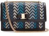 Salvatore Ferragamo Ginny woven-leather shoulder bag