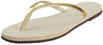 Havaianas Women's Metallic Flip Flops Beige (Sand Grey/Light Golden) 5UK (37/38EU)