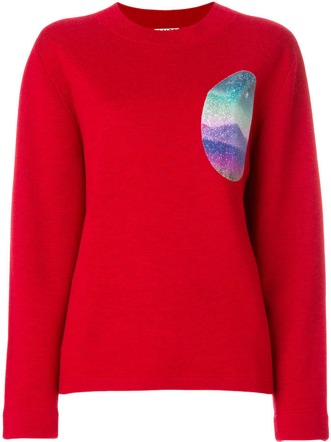 Aalto graphic-print patch sweater