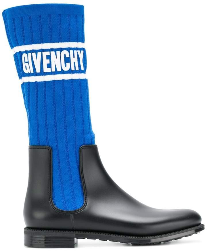 Givenchy logo sock boots