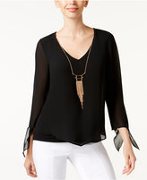 Thalia Sodi Chiffon Necklace Top, Only at Macy's