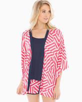 Soma Intimates Pajama Wrap Flag Stripe Rouge