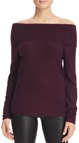 C by Bloomingdale's Off-The-Shoulder Cashmere Sweater